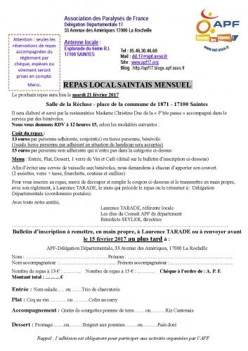 Inscription APF Repas local Saintais mensuel Février 2017.jpg