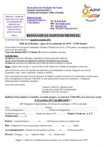Inscription APF Repas local Saintais mensuel Octobre 2017.jpg