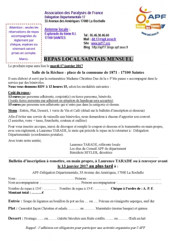 Inscription APF Repas local Saintais mensuel Janvier 2017.jpg