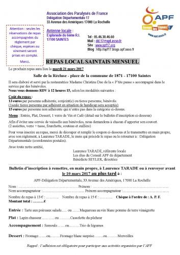 Inscription APF Repas local Saintais mensuel Mars 2017.jpg