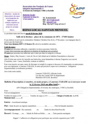 Inscription APF Repas local Saintais mensuel Février 2018.jpg