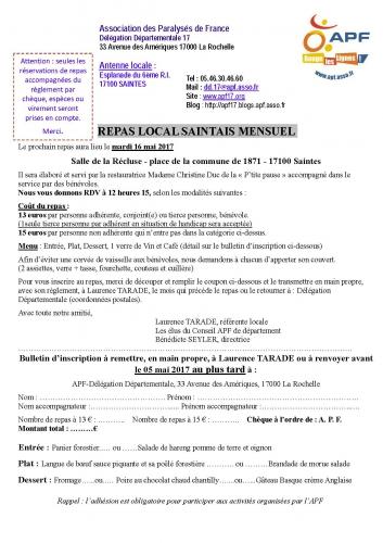 Inscription APF Repas local Saintais mensuel Mai 2017.jpg